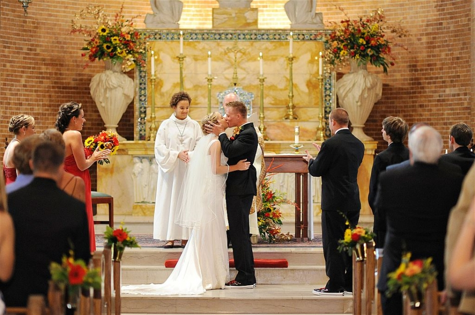 Wedding Ceremony at Saint Mary