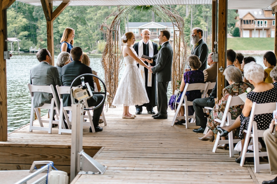 Wedding Ceremony at Lake Gaston