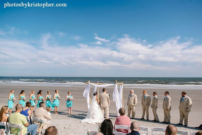 Ocean Isle beach wedding ceremony