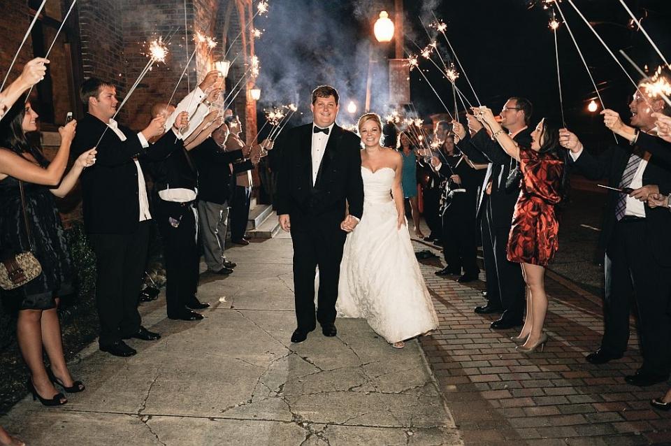 Sparkler Exit at Brooklyn Arts Center Wedding